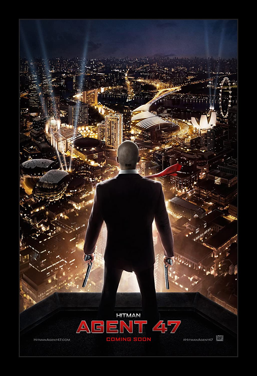 Amazon Com Wallspace Hitman Agent 47 11x17 Framed Movie Poster