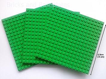 LEGO Bright Green Plate Base Board 16 x 16 Studs Baseboard Building Mat 91405