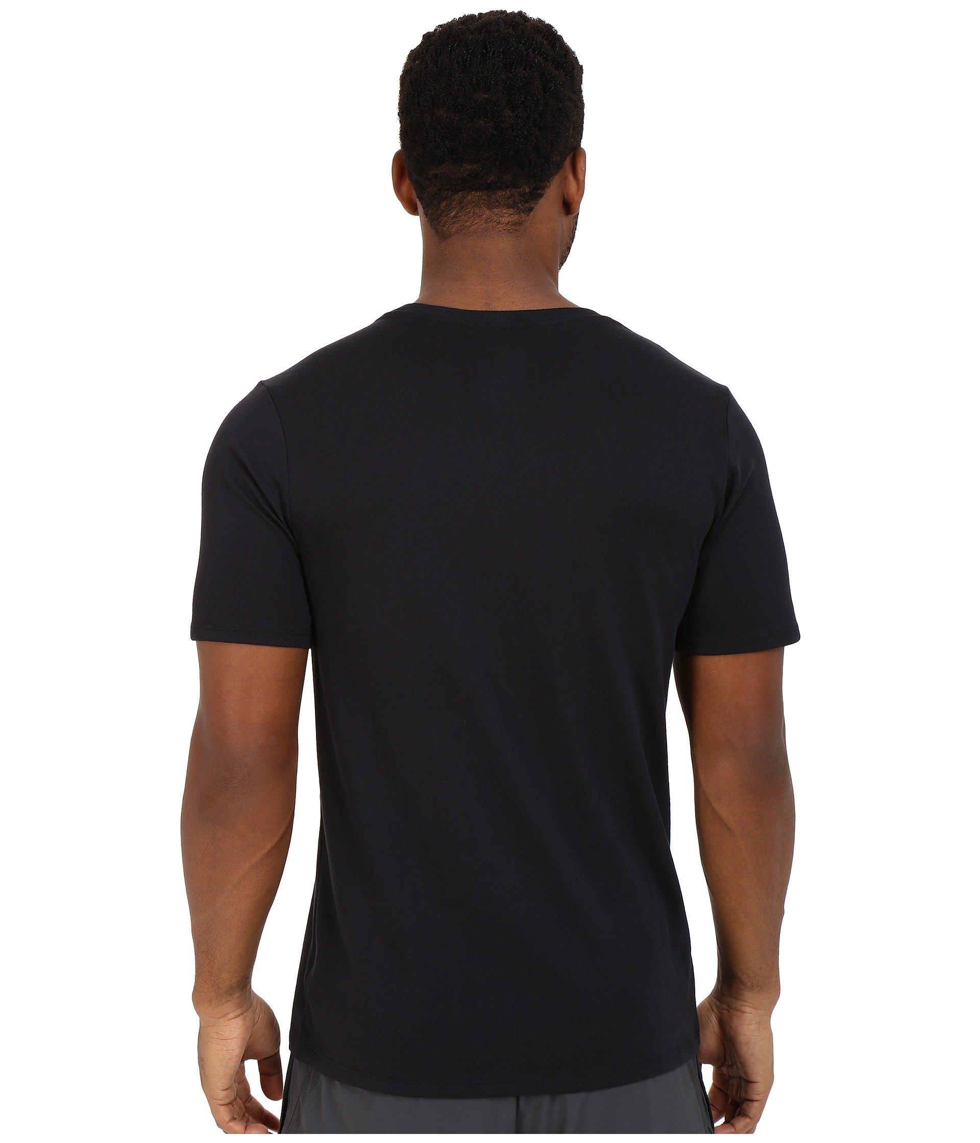 NIKE Men's Dri-FIT Cotton 2.0 Tee, Black/Black/White, Small by Nike (Image #4)