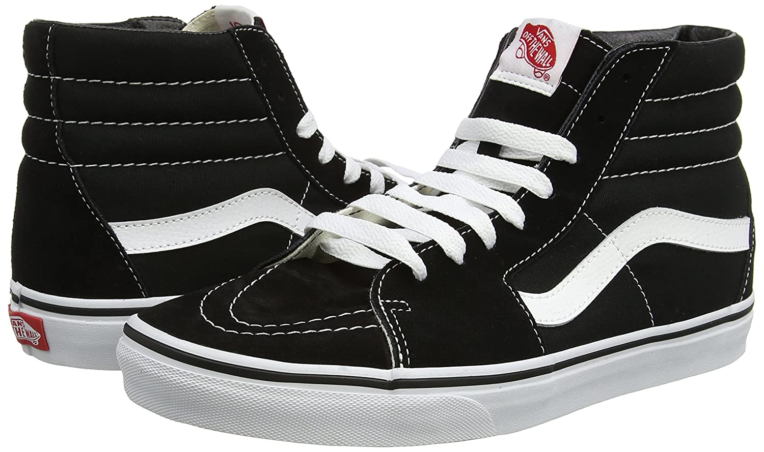 Vans Men's Sk8-Hi(Tm) Core Classics B075W7Q5TY 14.5 B(M) US Women / 13 D(M) US Men|Black/White