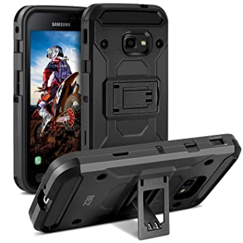 pretty nice d8d5b 1cef5 BEZ Case for Xcover 4 Case, Shockproof Cover Compatible with Samsung Galaxy  Xcover 4, Heavy Duty with Kickstand Function, Black