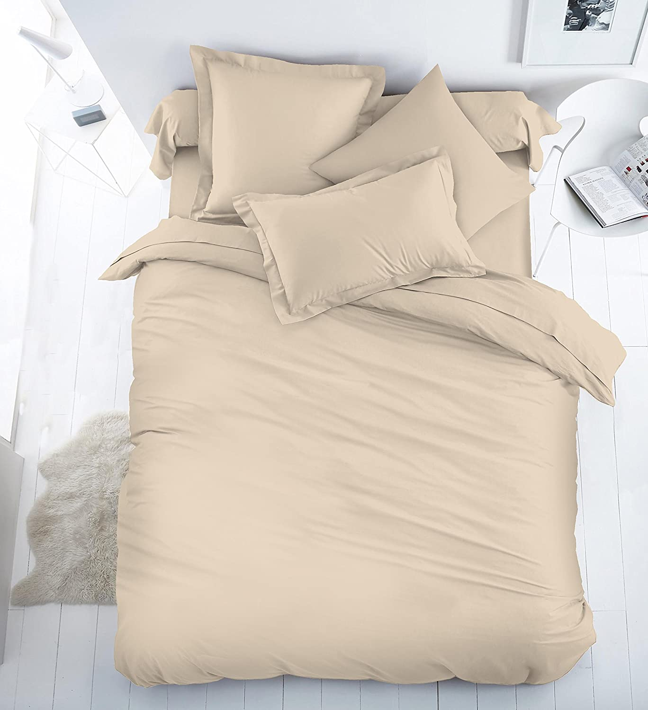 Egyptian Cotton 200 Thread Count Duvet Cover Set | Sleep&Beyond (Double, Black) Sleep and Beyond