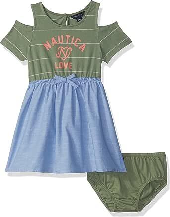 Nautica Patterned Sleeveless Dress Vestido para Niñas
