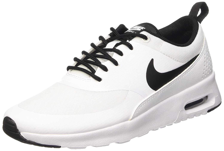 NIKE Women's Air Max Thea Low-Top Sneakers, Black B004MXM1GW 5.5 B(M) US|White/Black/White