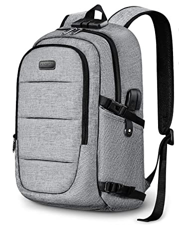 Laptop Backpack, Business Anti Theft Waterproof Travel Backpack with USB  Charging Port   Headphone interface d950df01b0c