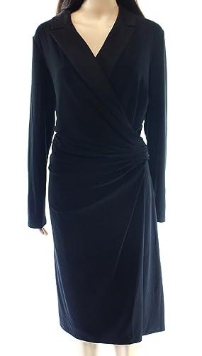 Lauren Ralph Lauren Women's Plus Sheath Dress Black 20W