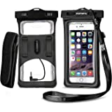 [2018 Upgraded Design] Vansky Floatable Waterproof Phone Case Dry Bag Cellphone Pouch with Armband and Audio Jack for iPhone X, 8 Plus, 8, 7 Plus, 7, 6s, 6, Andriod; TPU Construction IPX8 Certified