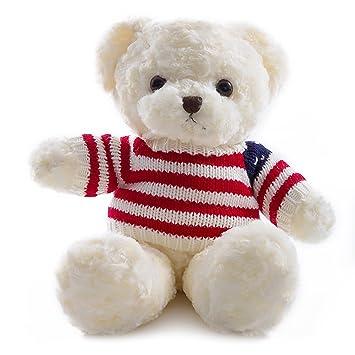 Wewill Super Cute Adorable osito de Peluche Osito de Peluche con la raya Suéter Adorable Peluche