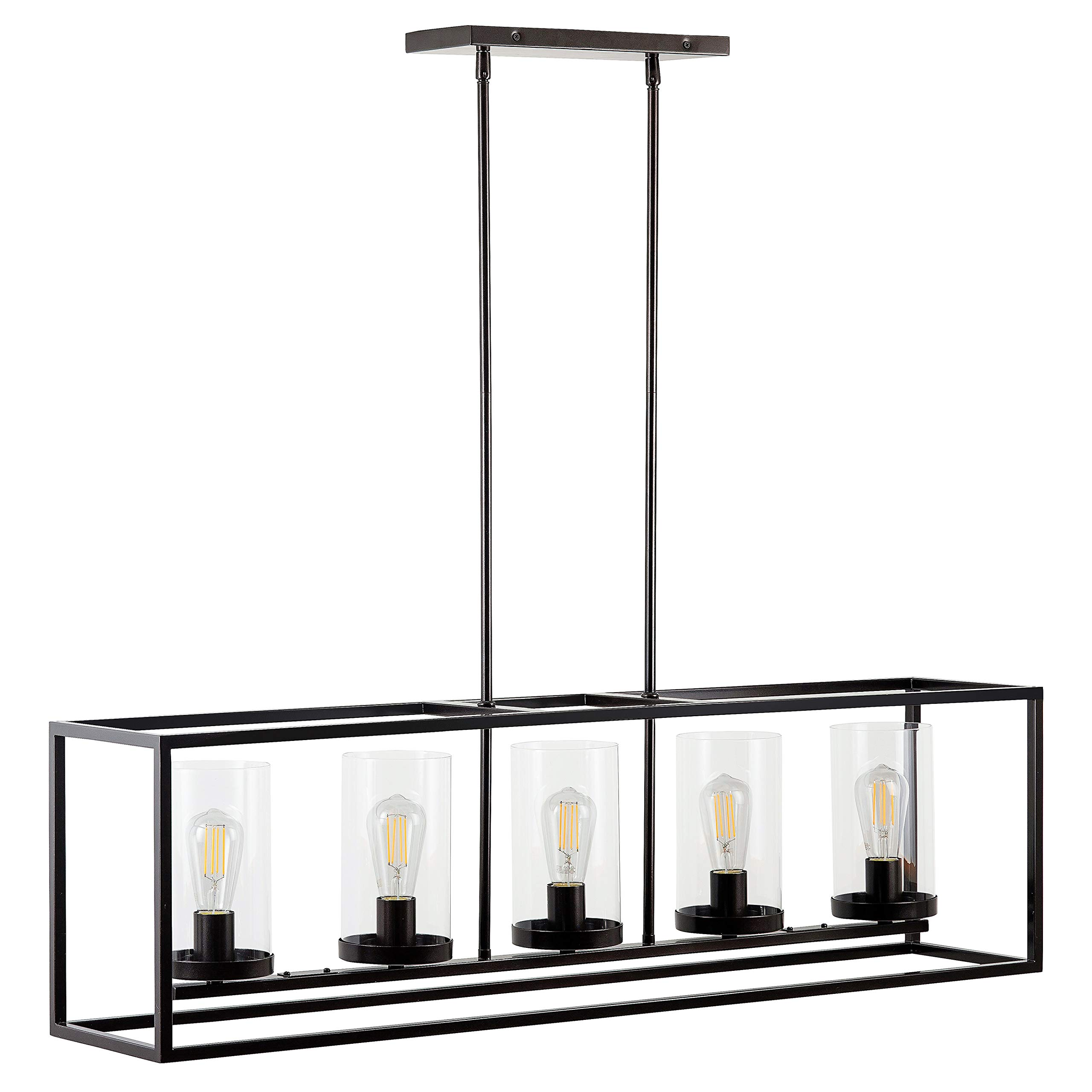 Verona 5 Light Kitchen Island Pendant - Bronze w/LED Bulbs - Linea di Liara LL-CH17-6DB-LED