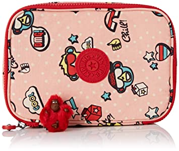 Kipling 100 PENS Pencil Cases, 21 cm, 1.5 liters, Multicolour (Monkey Play)