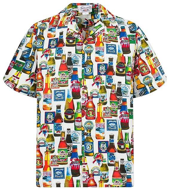 Camicia hawaiana con stampa allover