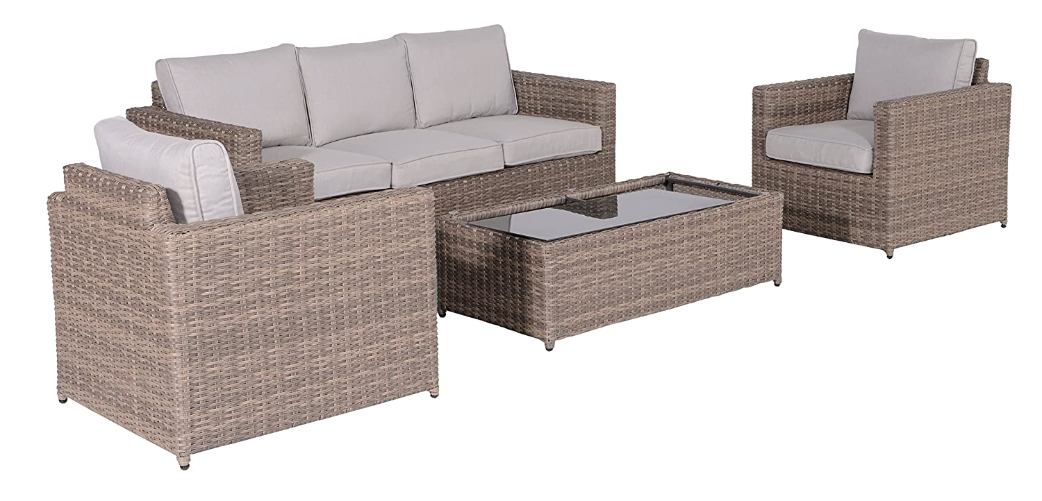 garden impressions 02230gs lounge set daniela neu 190 x 87 x 81 cm braun g nstig kaufen. Black Bedroom Furniture Sets. Home Design Ideas
