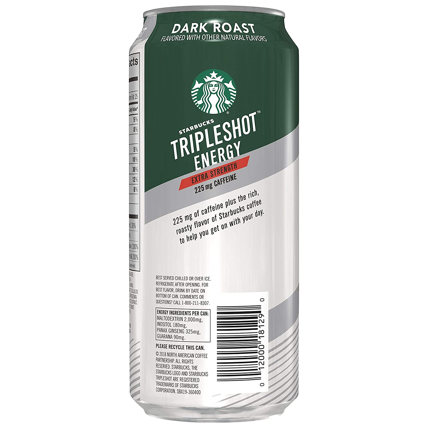 Starbucks Tripleshot Energy Extra Strength, Caffe Mocha, 15oz Cans (12 Pack) : Grocery & Gourmet Food