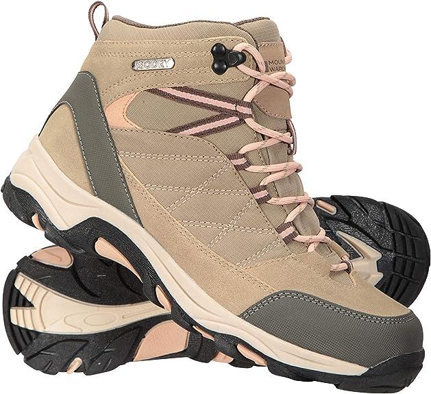 Mountain Warehouse Botas Impermeables Rapid para Mujer - Zapatos para Caminar Superiores de Gamuza y Malla, Zapatos duraderos, Botas de Suela de Goma ...