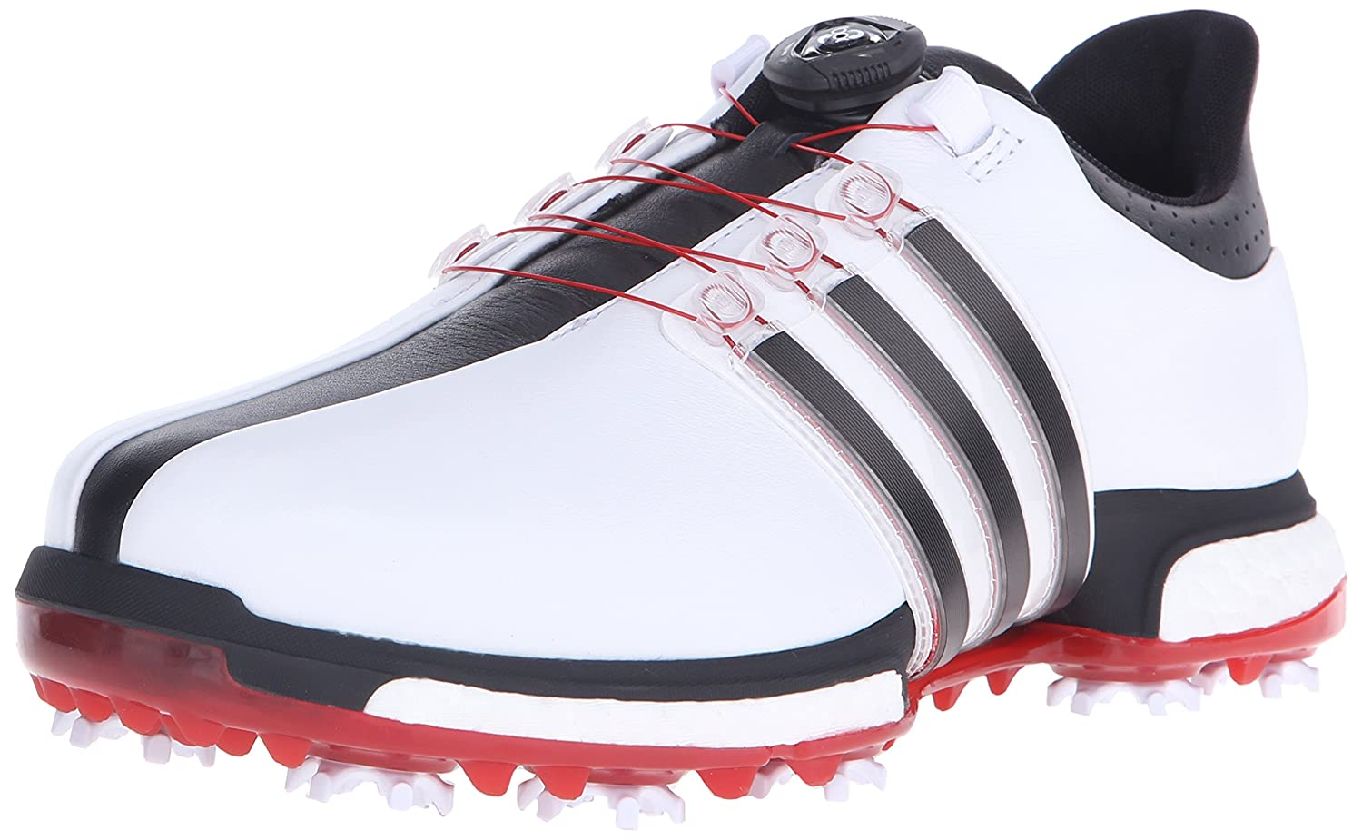 adidas Golf Men's Tour360 Boa Boost Spiked Shoe B013US7F9W 11.5 D(M) US|Ftwr White/Core Black/Power Red