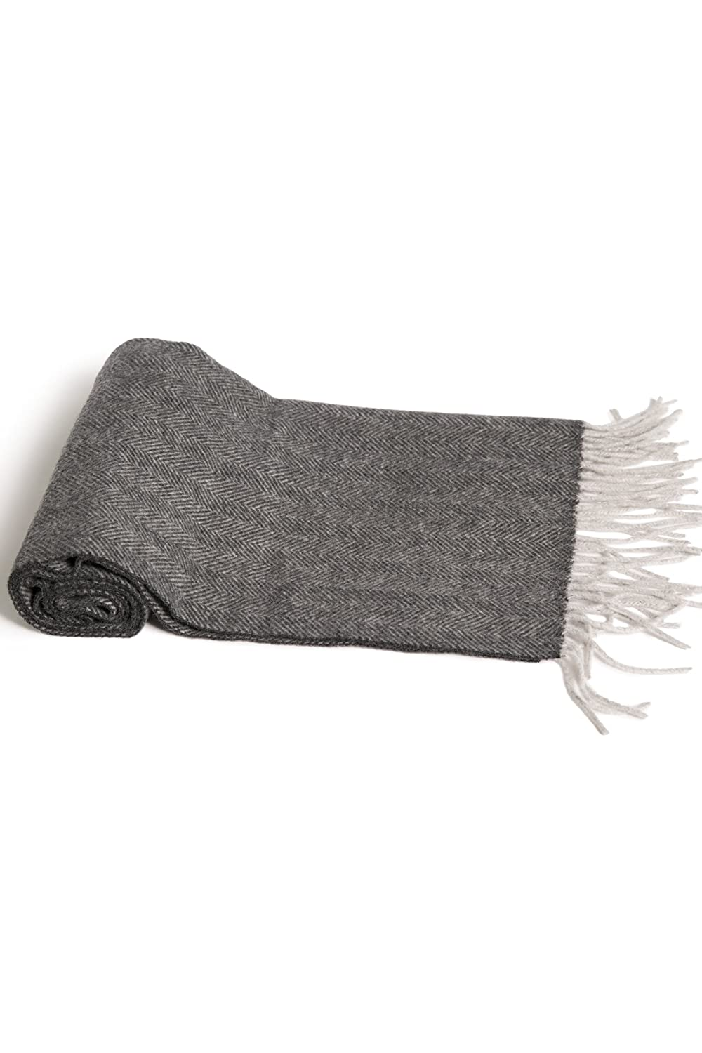 Fishers Finery Men's 100% Pure Cashmere Winter Scarf; 2-Ply Dehaired Warm and Comfortable (Black) MA-03-SF1-506-BLK-U