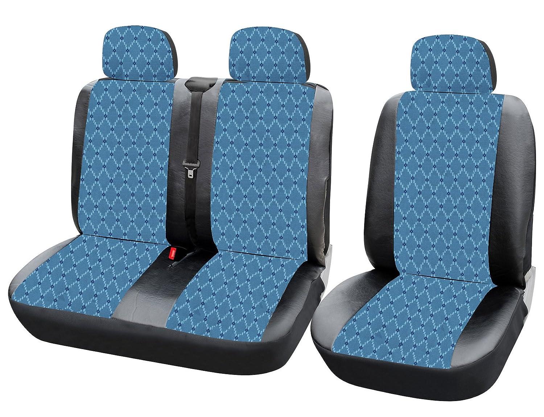 WOLTU AS7344 Auto Sitzbezü ge fü r Transporter ohne Seitenairbag blau