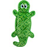 Outward Hound Invincibles Green Gecko Dog Toy - Stuffingless, Tough and Durable Squeakers, Large