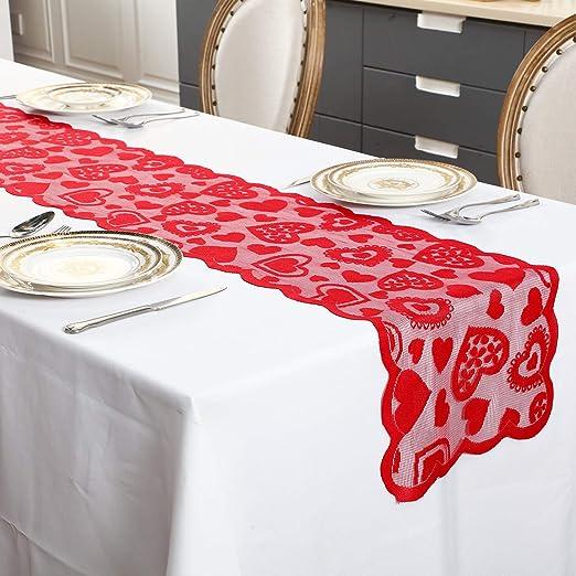 Camino de Mesa de Día de San Valentín 13 x 72 Pulgadas Manteles de ...