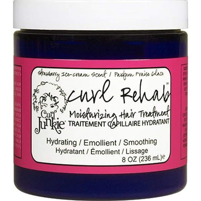 Curl Junkie Curl Rehab Moisturizing Hair Treatment - 8 oz - Strawberry Ice Cream