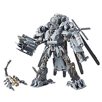 best sneakers 6e976 8f506 Amazon.com  Transformers Studio Series 08 Leader Class Movie 1 Decepticon  Blackout  Toys   Games