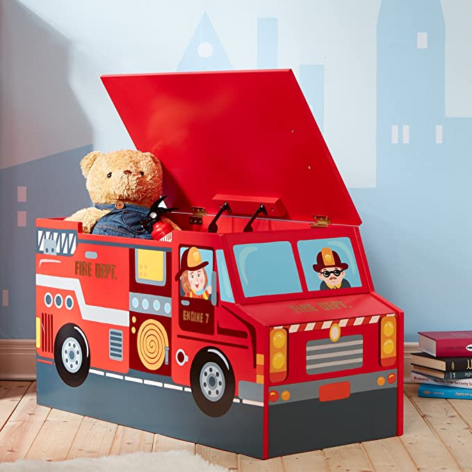 Cofre de madera para juguetes Lil Fire Fighters de Fantasy Fields TD-12507A