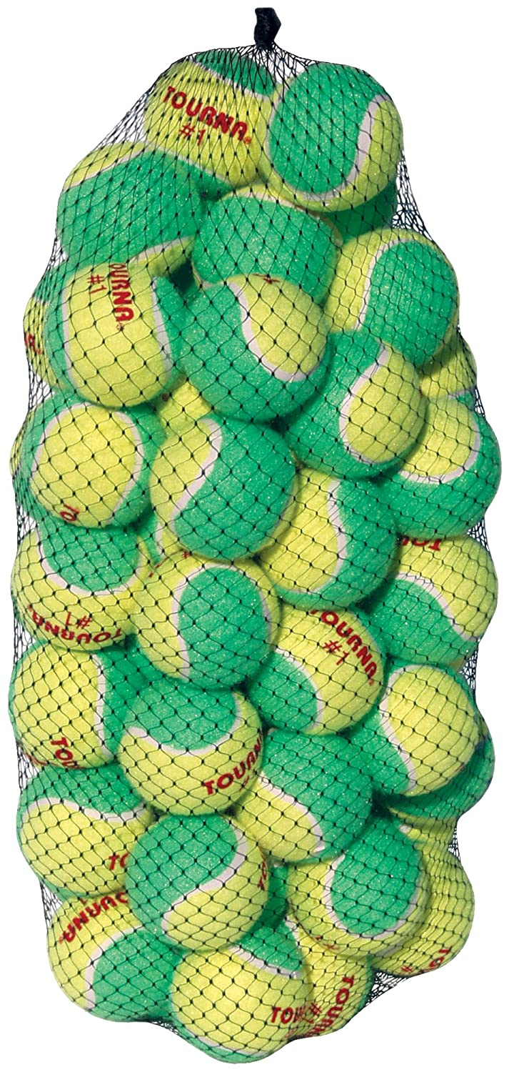 Tourna Low Compression Stage 1 Tennis Ball, Pack of 60 KIDS-1-60