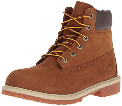 77816b4cb84a9 Timberland - Premium Boot - Mixte Junior - Marron (Rust Nubuck With Honey) -