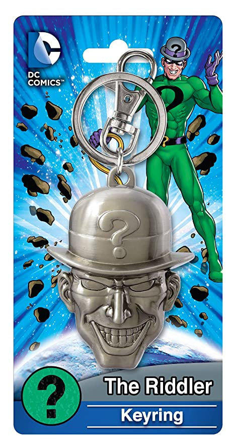 Amazon.com: Marvel Riddler Jefe peltre Llavero Figura de ...
