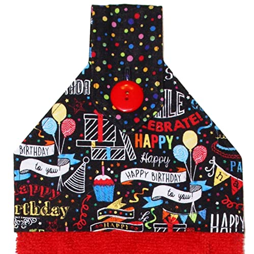 Happy Birthday Decorations Red Hand Towel Kitchen Towel Birthday Hand Towel Bathroom Towel