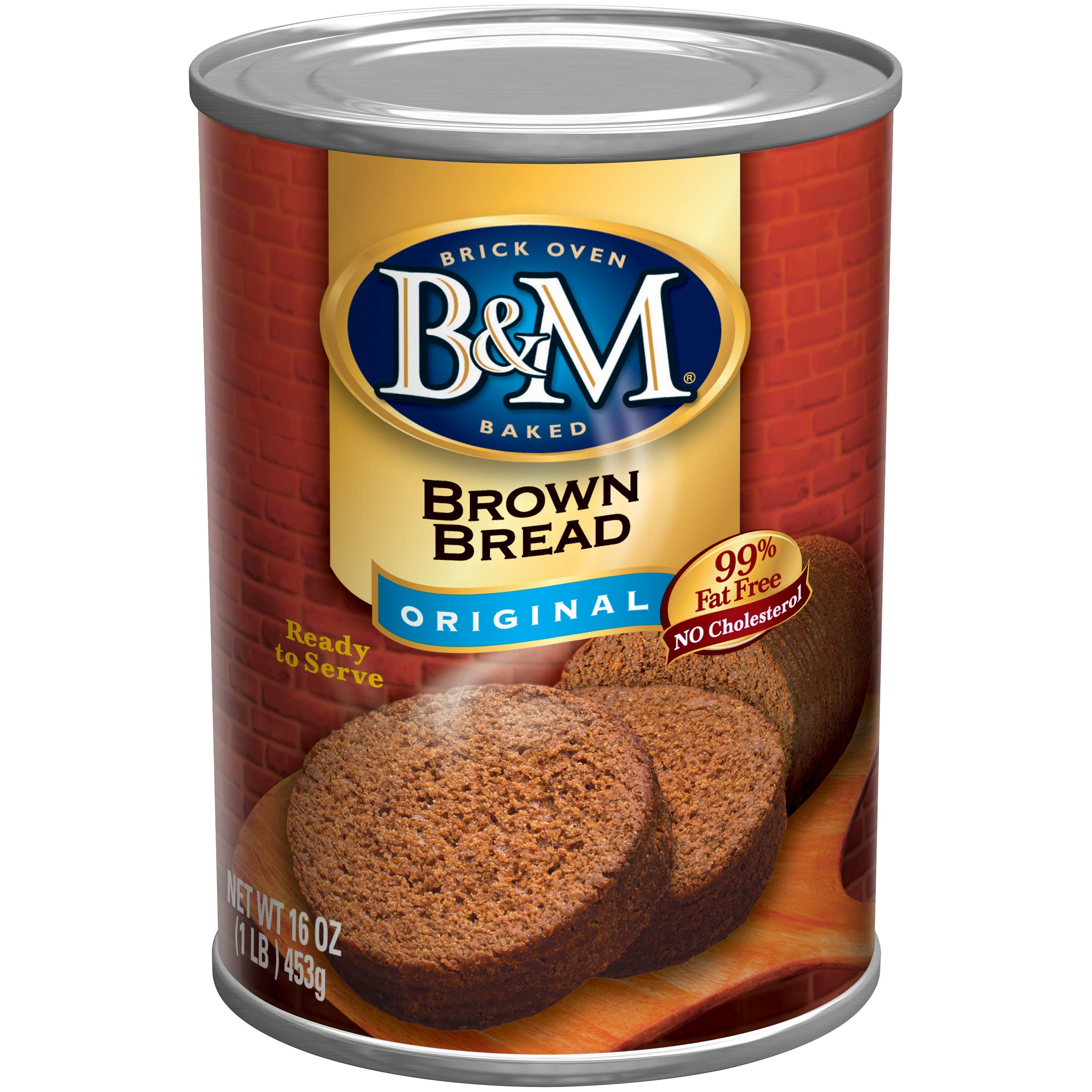 B&M Brown Bread, Original Flavor, 16 Ounce (Pack of 12)