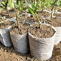 haptern 100 unidades de sacos de berçário biodegradáveis não trançados, 8 sacos de crescimento de plantas não trançados…