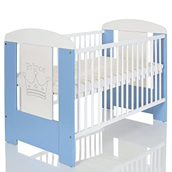 lit bebe 120x60 cm blanc avec matelas regable niveaux du base 3 barreaux amoviable - Lit De Bebe
