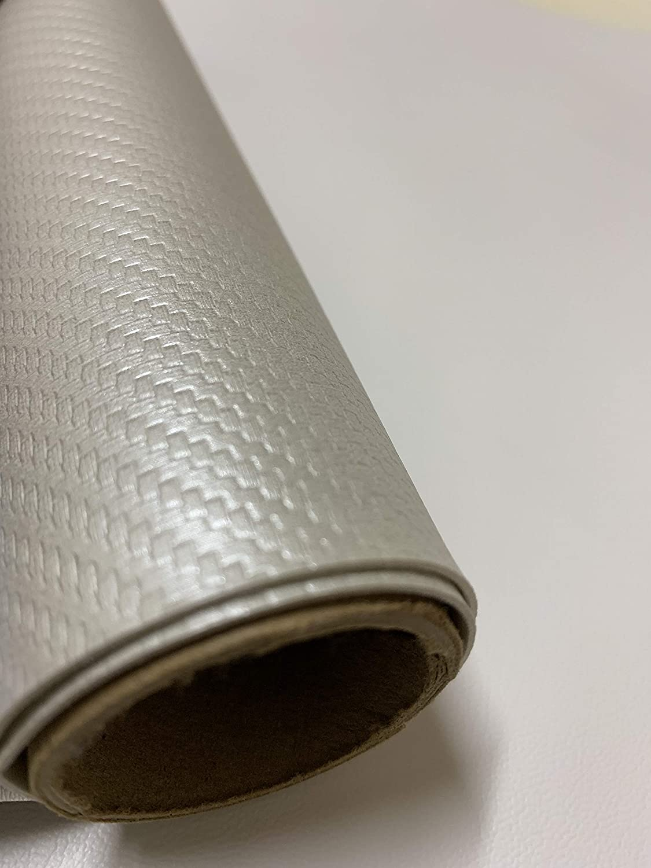 Carbon Fiber Marine Vinyl Fabric: Pearl White - 10 Yards (30ft x 54