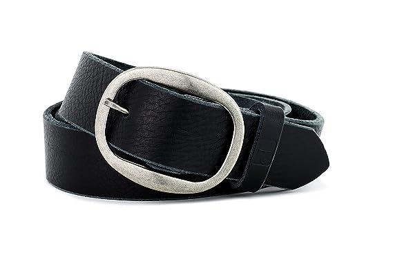 bc422e989b4 Naleeni Womens Black Leather Belt Soft handmade in America with genuine  premium grade leather. 1.5