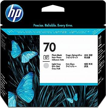 HP Cabezal de impresión DesignJet 70 negro fotográfico/gris claro ...