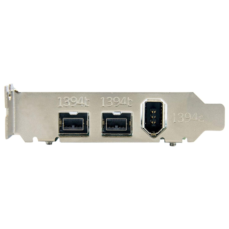 Amazon.com: StarTech.com 3 Port 2b 1a Low Profile 1394 PCI Express ...