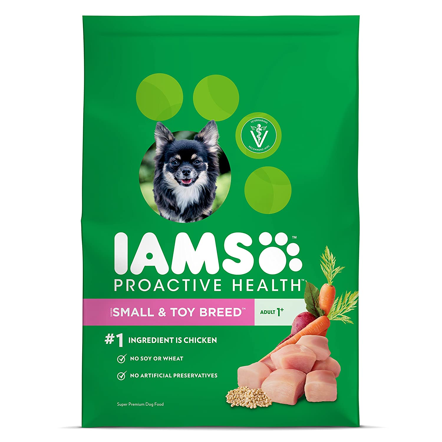 IAMS Proactive Health Dry Dog Food, Small Toy Breed, 12.5 lbs. Standard Packaging
