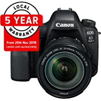 Canon EOS 6D Mark II Premium Kit with EF 24-105mm IS STM Digital Camera - SLR(6DIIPK) 3Inch Display,Black (Australian warranty)