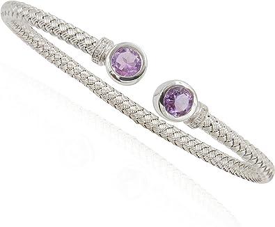 Sterling silver Amethyst /& Cz bracelet jewellery company