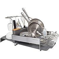 KitchenAid Full Size Expandable Dish-Drying Rack, 24-Inch, Charcoal Gray