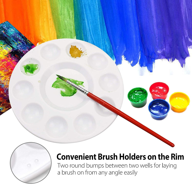 lavables 12 unidades de paletas de pl/ástico de la bandeja de pintura para el arte del arte de la pintura de la acuarela del aceite del arte de DIY 11 pozos