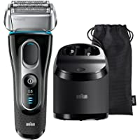 Braun Series 5 5197cc Men's Rechargeable Foil Electric Shaver with Clean and Charge System, Black