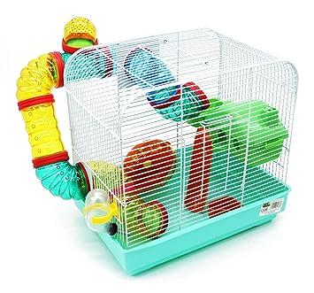 good looking new specials cute cheap BPS 1176 Cage pour hamster avec mangeoire, abreuvoir, roue et tunnel,  taille XL, 33 x 23,5 x 33 cm