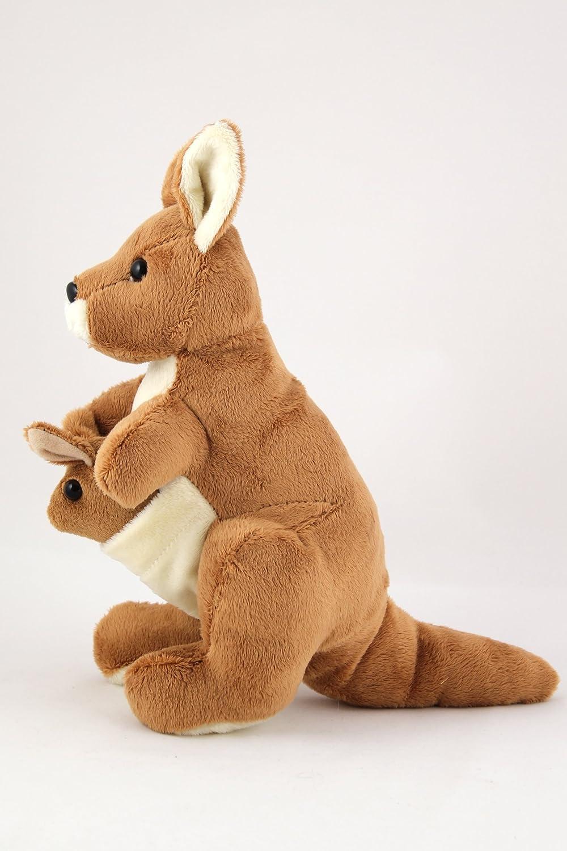 kangaroo soft toy with joey amazon co uk toys u0026 games