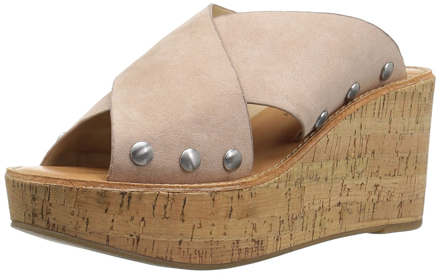 Chinese Laundry Women's Oahu Wedge Sandal B076926V6N 5 B(M) US|Vintage Rose Suede