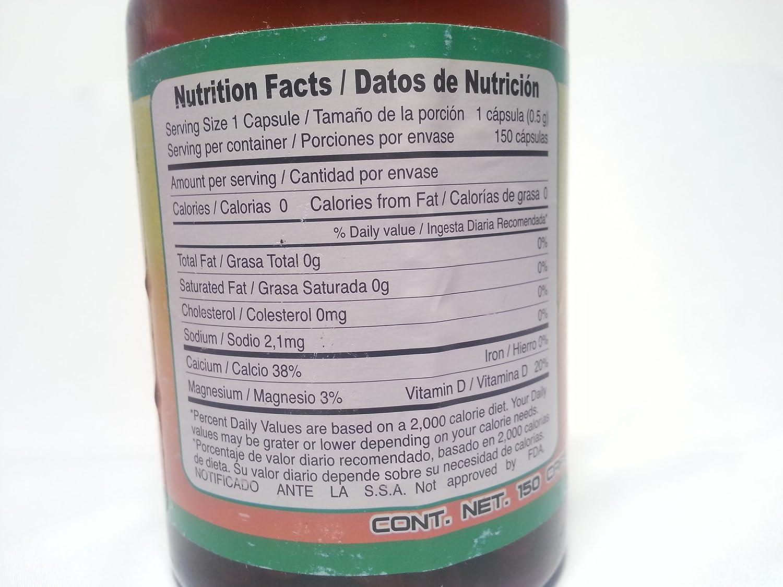 Amazon.com: Chaparro Amargo Bitter Bark 150 capsules: Health & Personal Care