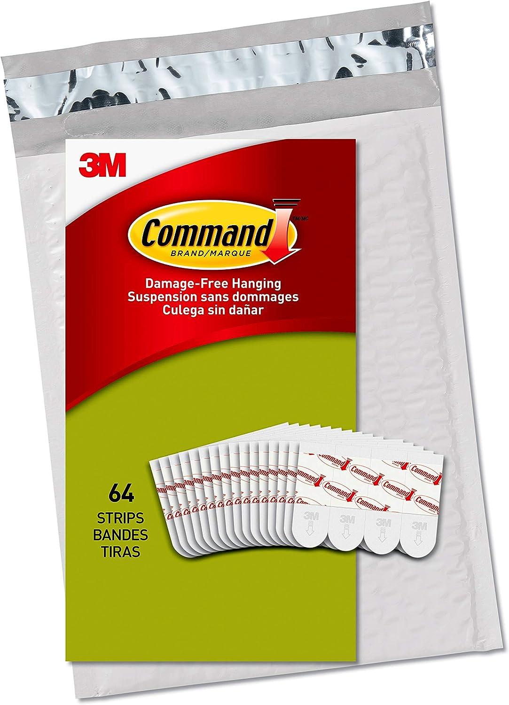 Command PH024-64NA Small White Poster Strips, 64