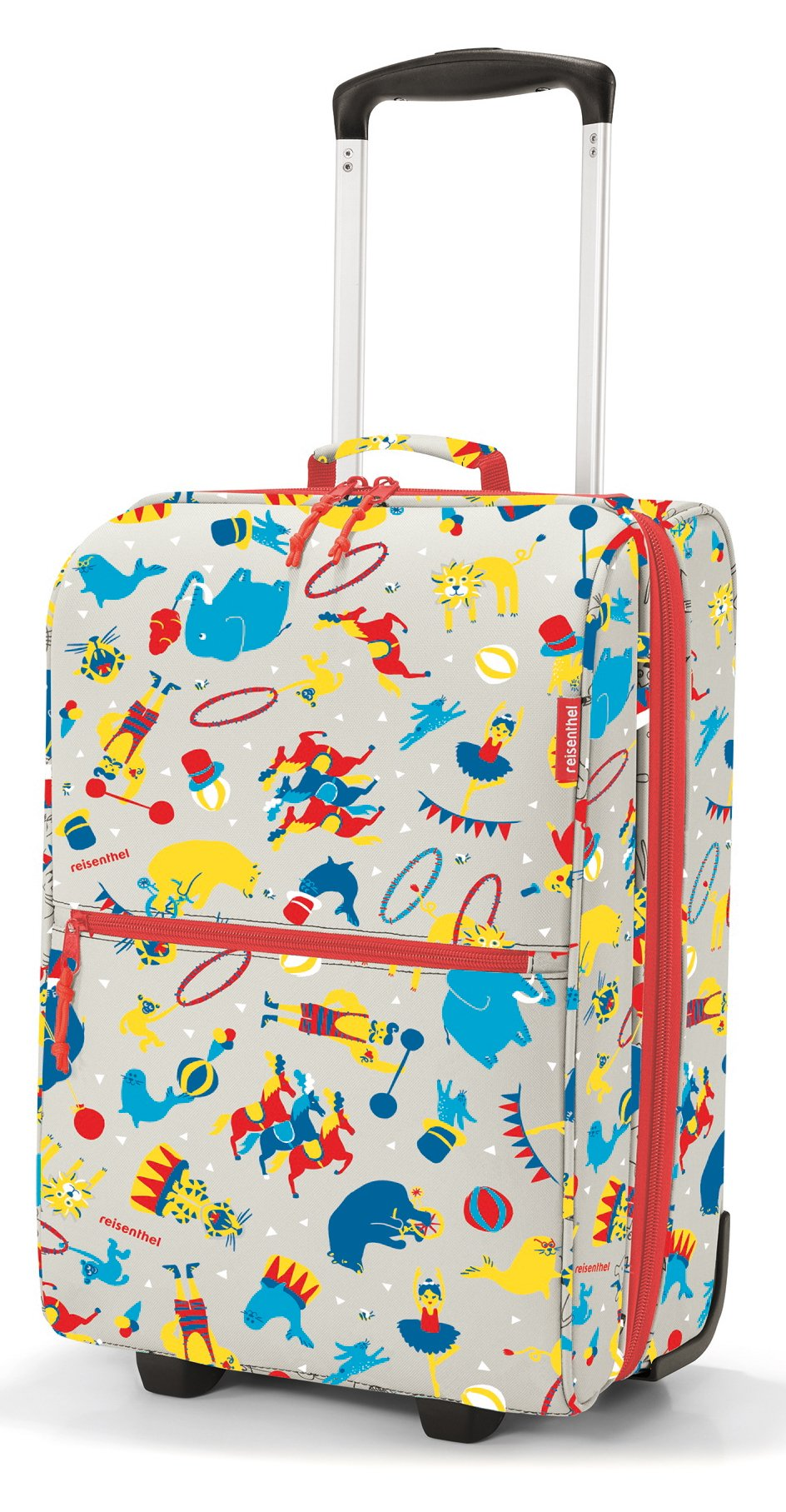 reisenthel Trolley XS Kids Luggage, Lightweight Compact Roller Bag, Circus Red