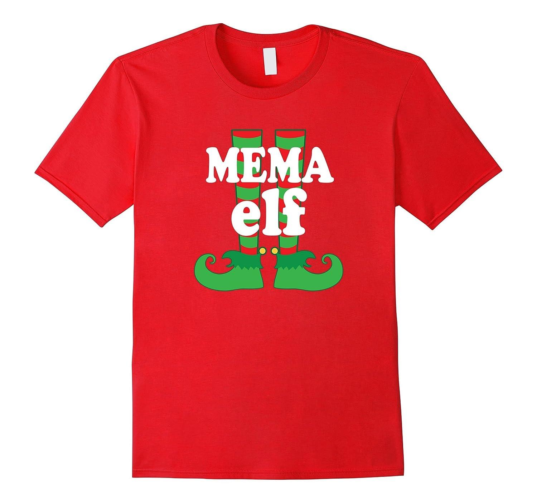 Mema Grandma Elf Feet Christmas Holiday Party T-shirt-RT